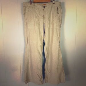 Pilcro and the Letterpress Tan Linen Pants